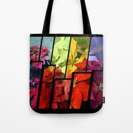 Mixed color Poinsettias 3 Tinted 2 Tote Bag