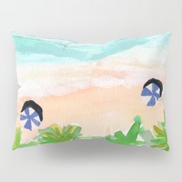 Seychelles Tropical Island Beach Pillow Sham