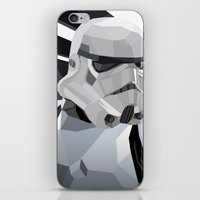storm iPhone & iPod Skins featuring Stormtrooper by Liam Brazier
