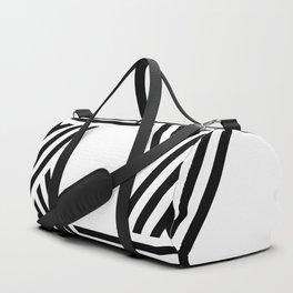 Six Stripe Hexagram Black and White Duffle Bag