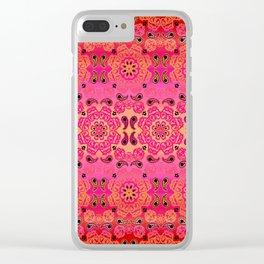 Pink Haze Bandana Ombre' Stripe Clear iPhone Case