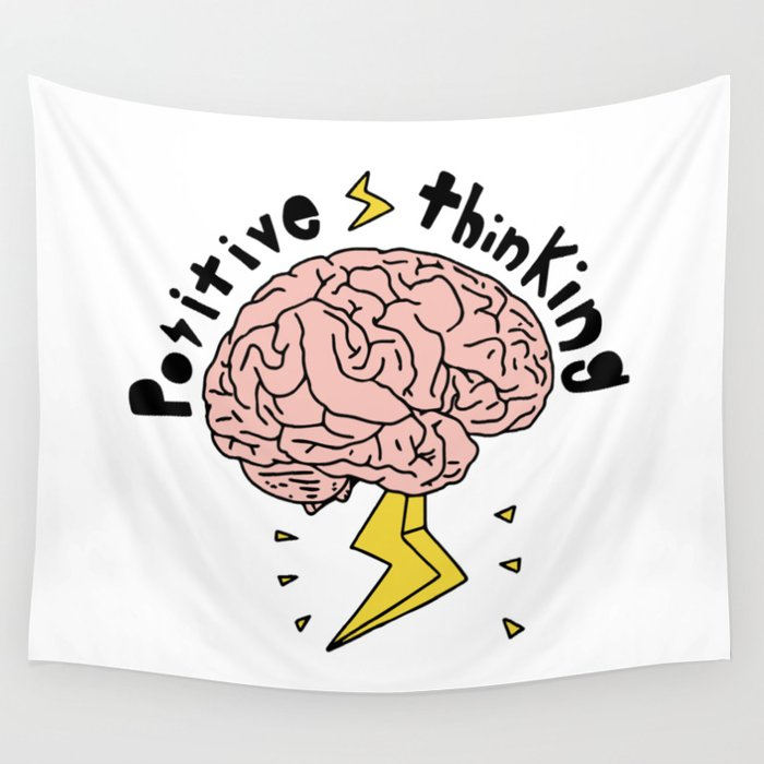 Positive Thinking Wall Tapestry