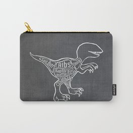 Raptor Dinosaur (A.K.A Bird of Prey) Butcher Meat Diagram Carry-All Pouch