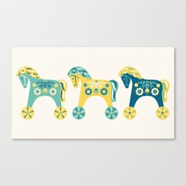 Swedish Toy Horses Canvas Print