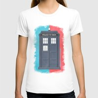 doctor T-shirts featuring 10th Doctor - DOCTOR WHO by LindseyCowley