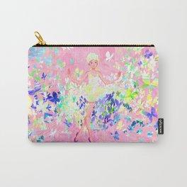 Butterflies dress petal pink Carry-All Pouch