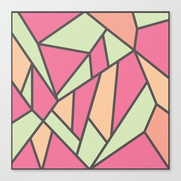 Geometric Colour Pattern V5 Canvas Print