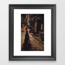 Soloist - Solitary Woman with Violin Framed Art Print
