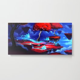 World is Breaking Metal Print