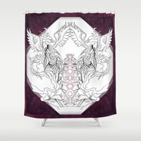 chakra Shower Curtains featuring Chakra by BAKLAVART