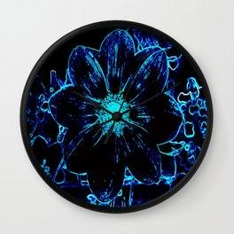 Blue Delight Wall Clock