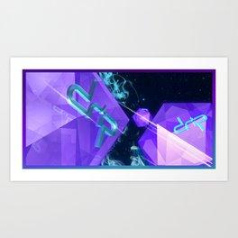 Space Gems Art Print