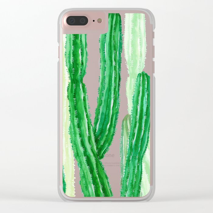 cactus in the nature Clear iPhone Case