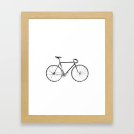 bicycle - portrait Framed Art Print