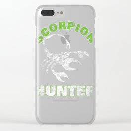 Funny Scorpion Hunter Outdoor Camping product Clear iPhone Case