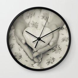 Heart in her hands II Wall Clock