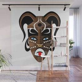 Tribal Mask Wall Mural