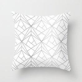 Geometric Silver Pattern Throw Pillow