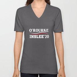 Beto O'Rourke & Jay Inslee 2020 President Election Campaign Unisex V-Neck