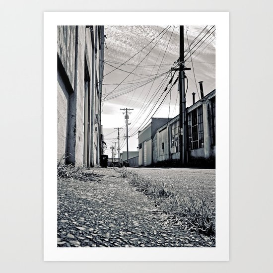 Old urban alley Art Print