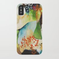 """flora bowley iPhone & iPod Cases featuring """"Rainwash"""" Original Painting by Flora Bowley by Flora Bowley"""