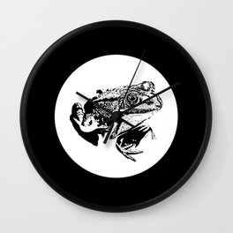 black frog IV Wall Clock