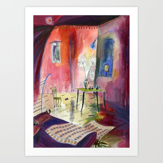 Room with Hidden Things Art Print