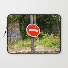 Grinning Red Sign Laptop Sleeve