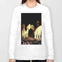 baby elephant Long Sleeve T-shirts featuring Baby elephant by nicky2342