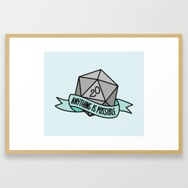 Anything is Possible D20 Framed Art Print