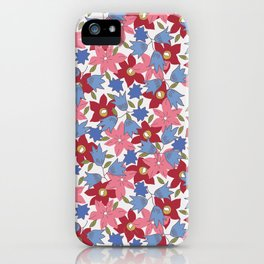 Liberty print in pinks, reds and blues iPhone Case