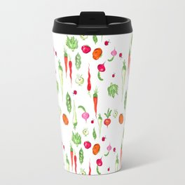 Veggie Party Pattern Travel Mug