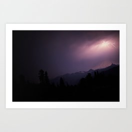 Baker Lightning Art Print