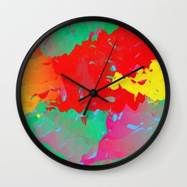 Abstract Paint Gradient Wall Clock