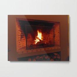 Fireplace . Metal Print