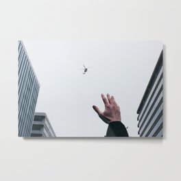 Helicopter Over DC Metal Print