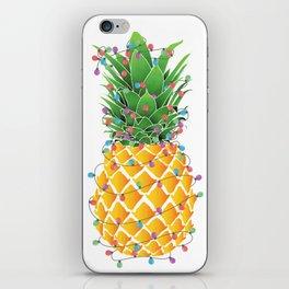 Pineapple Christmas iPhone Skin