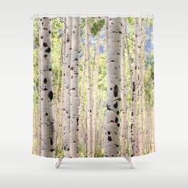 Dreamy Aspen Grove Shower Curtain