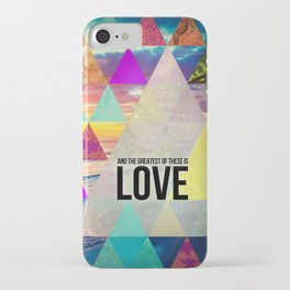 """1 Corinthians 13:13 """"And the greatest of these is Love"""" iPhone Case"""