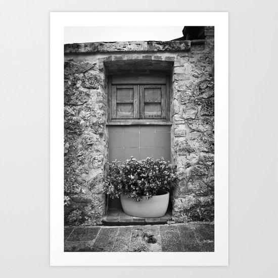 A Brick Doorstep Art Print