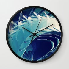 Space Abstract  Wall Clock