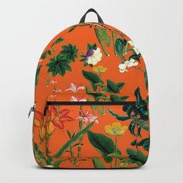 Vintage wild flowers orange Backpack