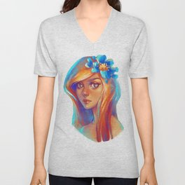 Rainbow girl Unisex V-Neck