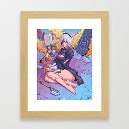 Nier: Automata 2B Framed Art Print