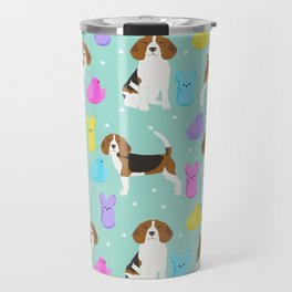Beagle marshmallow peeps candy spring easter treat tradition for dog lovers Travel Mug
