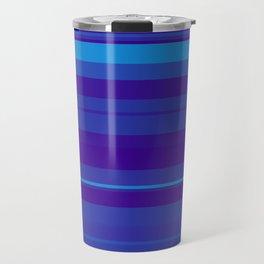 minimalistic horizontal stripes pattern gmbti Travel Mug