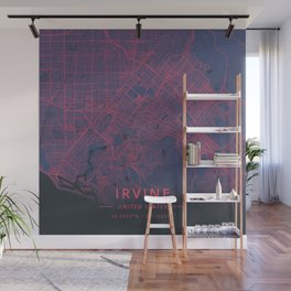 Irvine, United States - Neon Wall Mural