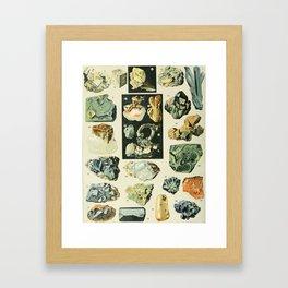 Vintage Minerals Chart Framed Art Print
