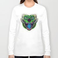 mythology Long Sleeve T-shirts featuring Artificial Mythology by Diligence