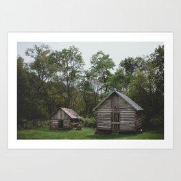 Rustic Log Cabins 2 Art Print